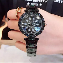Czech Crystal Black Watch