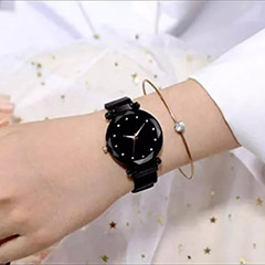 Shimmery Colour Changing Black Watch