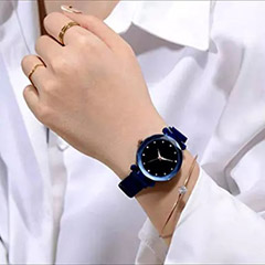 Shimmery Colour Changing Blue Watch