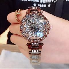 Czech Crystal Golden Watch