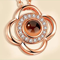 Love Projection Rosegold Necklace