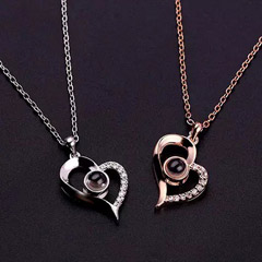 Love Projection Heart Necklace