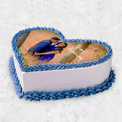 Heart Shaped Photo Cake 10 Pax
