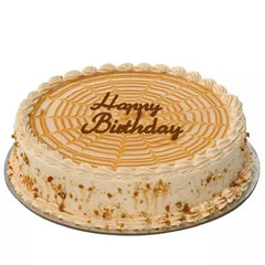 Special Butterscotch Birthday Cake (1/2 Kg)
