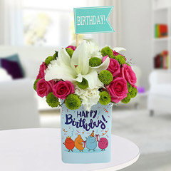Lively Birthday Flower Arrangement