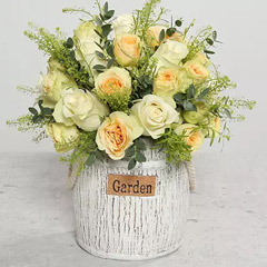 Roses In Designer Ceramic Vase