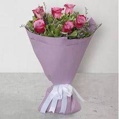Bouquet Of Purple Roses