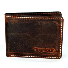 Vintage Leather Bi Fold Wallet