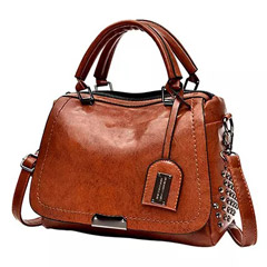 Classic Leather Brown Shoulder Bag