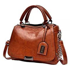 Classic Leather Brown Shoulder Bag