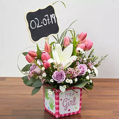 Pastel Flowers Arrangement
