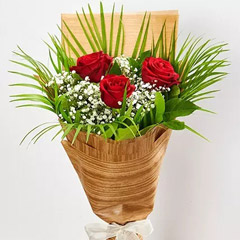 Magnificent Red Rose Bouquet