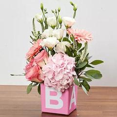 Vase Arrangement Of Pastel Flowers