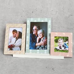 Set of 3 Pastel Coloured Frames