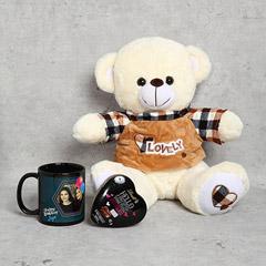 Teddy Bear Chocolates and Personalised Mug Gift Set