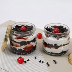 Set of 2 Tempting Black Forest Jar Cakes
