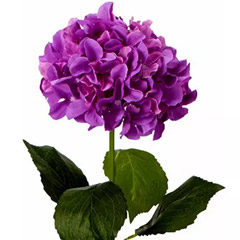 Bunch of 5 Artificial Purple Hydrangea