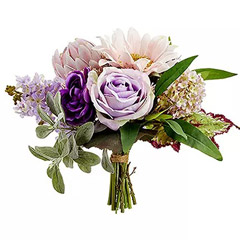 Pink and Purple Artificial Floral Bunch