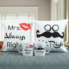 Always Right Cushion N Mug Combo
