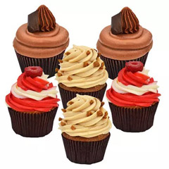 Six Delicious Cupcakes
