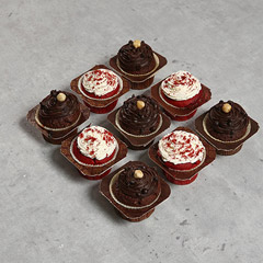 9 Assorted Cup Cakes