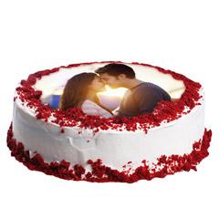 Velvety Photo Cake 1 Kg Cake