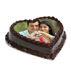 Cake From The Heart 1 Kg Truffle Cake