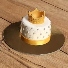 Designer Crowned Mono Cake