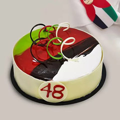Set of 2 UAE Flag Themed Monocake