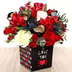 I Love You Flower Vase