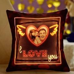 I L U Personalised LED Cushion