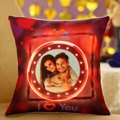 Lovey Dovey Personalised LED Cushion