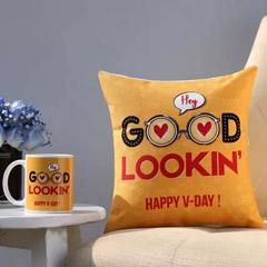 Valentines Flirty Wishes Mug & Cushion Combo