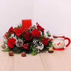 Beautiful Flower Arrangement And Mug