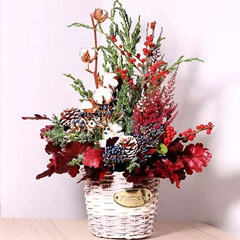 Pinecone And Flowers Decor