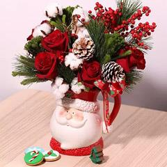 Santas Jar Or Flowers