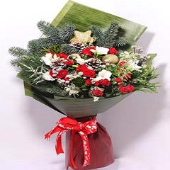 Xmas Decor Flower Bouquet