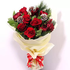 All Red Xmas Bouquet