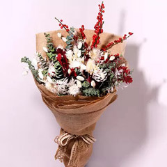 Mixed Flowers Jute Wrapped