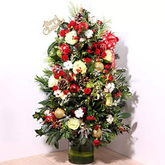 Fresh Flower Christmas Tree
