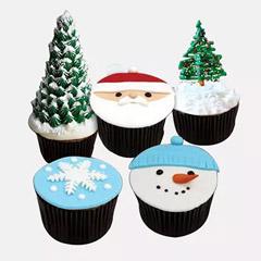 Christmas Fondant Cupcakes