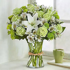 Bunch Of Green and White Flowers