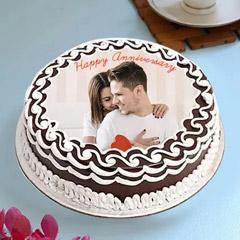Designer Anniversary Photo Cake