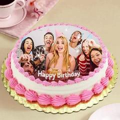 Delicious Birthday Photo Cake