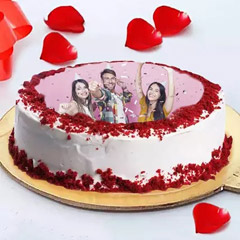 Delicious Personalized Red Velvet Cake
