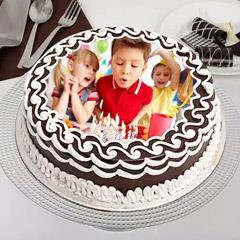 Birthday Celebrations Photo Cake- Truffle 1 Kg