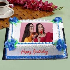 Birthday Floral Photo Cake