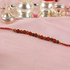 Rudraksha And Beads Rakhi