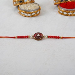 Pearl And Beads Rakhi