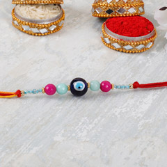 Light Blue Evil Eye Rakhi